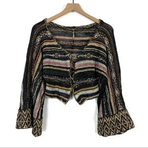 Free People Nopal Bell Sleeve Cardigan Size XS